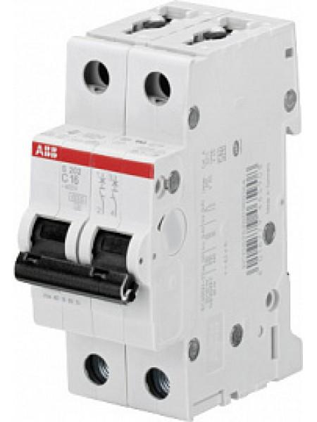 Автоматический выключатель модульный ABB S202 2п 2А C 6кA AC/DC (перемен./постоян.) (2CDS252001R0024)