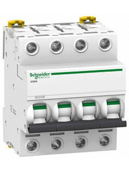 Автоматический выключатель модульный Schneider Electric iC60N 4п 6А B 6кA (A9F78406)