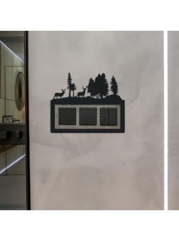 Декоративная рамка для выключателя  ЛЕС